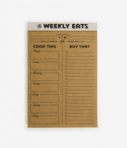 Weekly Eats List Pad