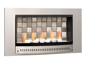 Classic Fireplace Tiled Back