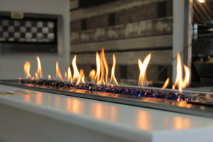 Flameline 1200 Fireplace - Black Mirror