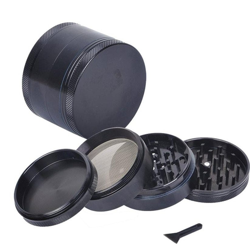 4-Piece Magnetic Top 1.5in Mini Aluminum Grinder