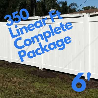 354ft Vinyl Privacy Fence Kit With 2 Gates (Great For 1/2 Acre Lots)