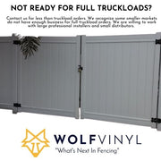 "Contractor Vinyl Fence Pickets 11.25""(Doublewide Pickets)"