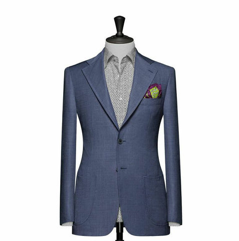 """The Clover"" Solid Pale Blue Blazer"