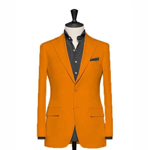"""The Clover "" Soild Orange Blazer"