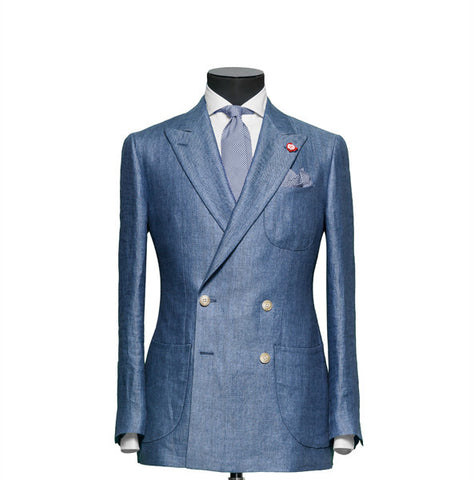 """The Hamilton"" Powder Blue Double Breasted Suit"