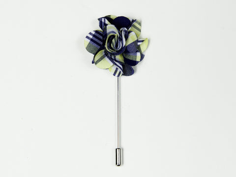 """The Gesture"" Blue and Yellow Floral Lapel"