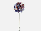 """The Gesture"" Blue and Red Floral Lapel Pin"