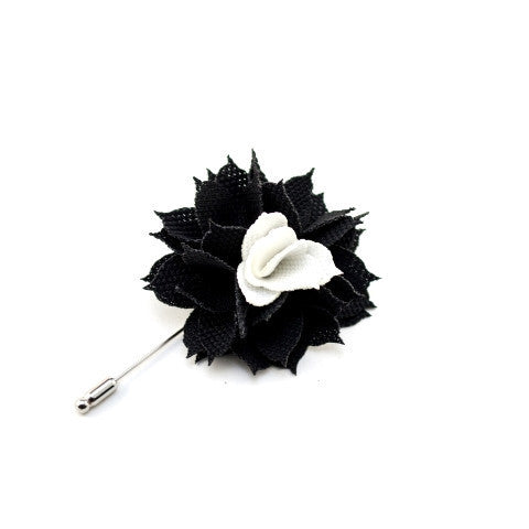 """The Gesture"" Aster Black Floral Lapel"