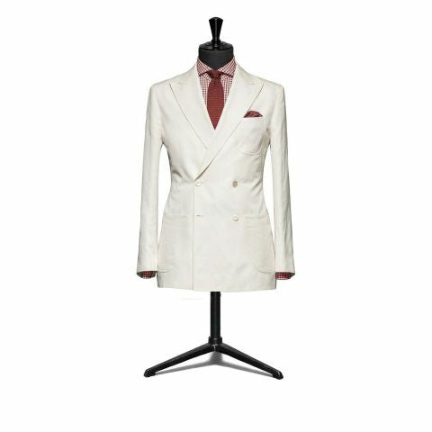 """The Hamilton"" White Double Breasted Suit"