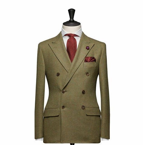 """The Hamilton"" Green Double Breasted Suit"