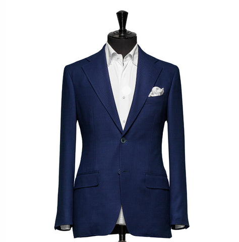 """The Clover"" Solid Navy Blazer"
