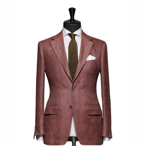 """The Clover"" Solid Red Blazer"