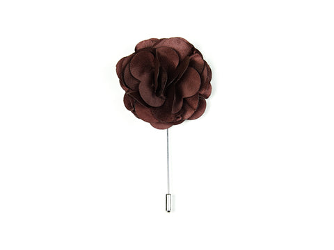 """The Gesture"" Burgundy Floral Lapel Pin"