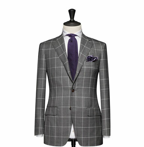 """The Charleston"" Light Gray Windowpane Suit"