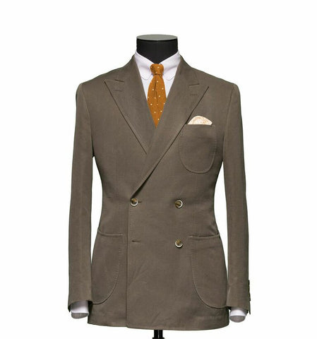"""The Hamilton"" Taupe Double Breasted Suit"
