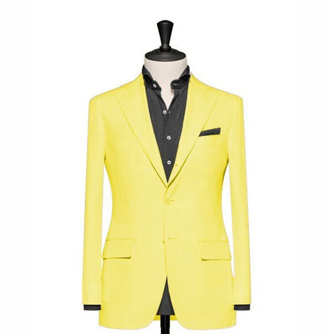 """The Clover"" Solid Yellow Blazer"