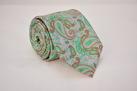 Manhattan Gray Paisley Necktie