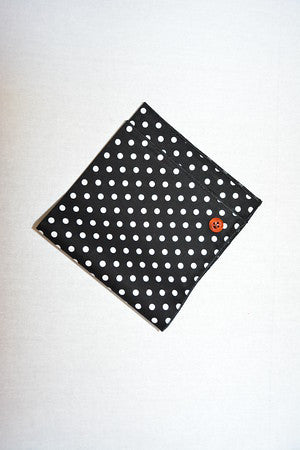 Black and White Polka Dot Pocket Square