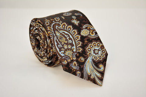 Naples Brown Paisley Necktie