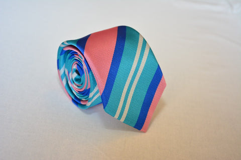"""The Creator"" Pink n Teal Stripe"