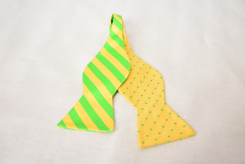 The Creation Yellow and Green Bowtie