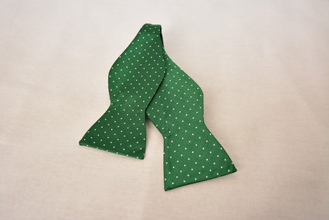 Charleston Green Polka Dot Bowtie
