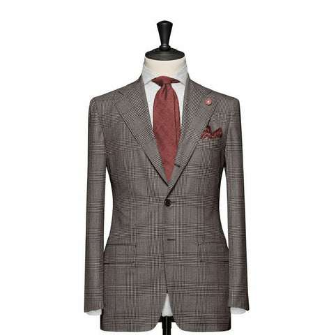"""The Charleston"" Light Brown Windowpane Suit"