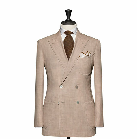 """The Hamilton"" Beige Double Breasted Suit"