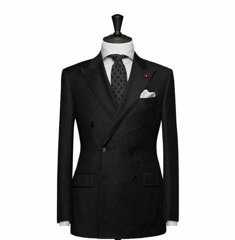 """The Hamilton"" Black Double Breasted Suit"