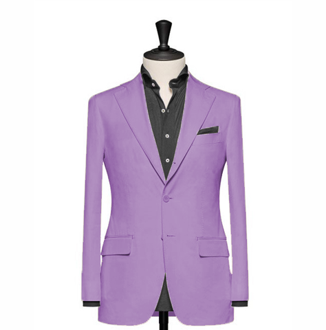 """The Clover"" Solid Lavender Blazer"
