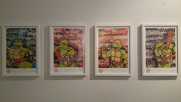 Set of 4 Ninja Turtle open edition museum grade archival prints*SALE*