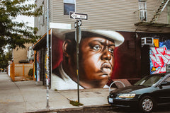 The notorious B.I.G. painted in Brooklyn New York 2013