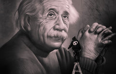 Albert Einstein, painted on Ashworth Lane New Zealand