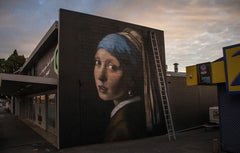 the girl with a pearl earring (after Vermeer) painted in New Zealand