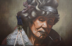 portrait of Ina te Papatahi ( after Goldie) painted in New Zealand 2012