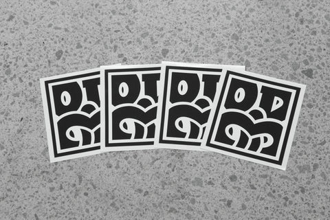 OD BOX TIKI Black Sticker Pack
