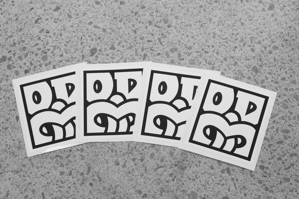 OD BOX TIKI White Sticker Pack