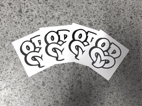 OD TIKI White Sticker Pack