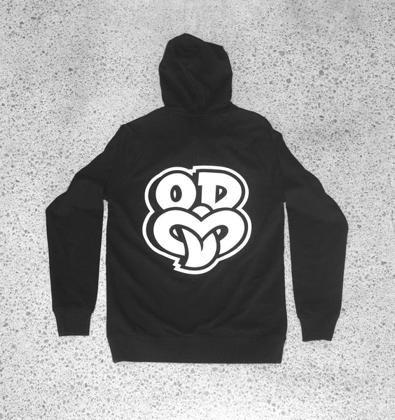 OD Tiki Zip Hooded Sweatshirt Back Design