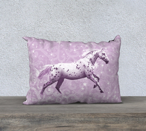 Leopard Appaloosa Horse Pink Fantasy Decor Pillow Cover