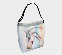 Load image into Gallery viewer, Flair Colourful Horse Art Day Tote Bag