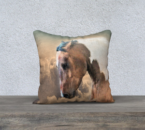 Ethereal Paint Horse Decor Pillow Cover