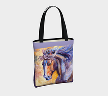 "Load image into Gallery viewer, Modern Horse Art Tote Bag, ""Epiphany""  Equestrian Tote Bag, Cowgirl, Accessories, Horse Lovers, Designer Tote"