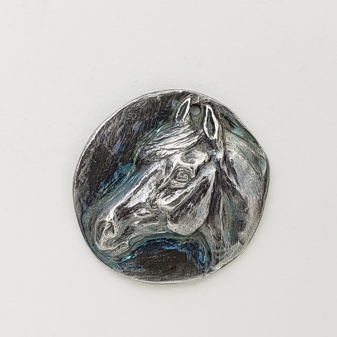 Hand Sculpted Fine Silver Horse Head Pendant Jewelry ~ Dignity