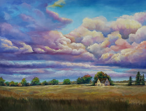 Autumn Skies- 8th Line Georgetown, Ontario Oil Painting Landscape