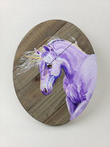 """Passion"" Violet Purple Unicorn Fantasy Horse Painting"