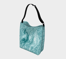Load image into Gallery viewer, Wild Horses Turquoise Day Tote Bag