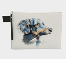 Load image into Gallery viewer, Border Collie Cross Dog Watercolour, Zipper Case Carry All