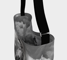 Load image into Gallery viewer, Storm Warning Black and White Horse Art Day Tote Bag