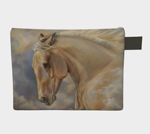 Load image into Gallery viewer, Palomino Horse Art Zipper Carry All, Zipper Case